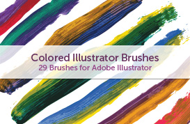 Colored Illustrator Brushes