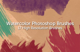 17 High Res Watercolor Brushes
